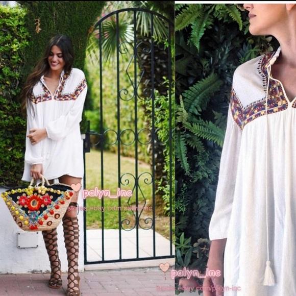 Zara Dresses & Skirts - Zara Trafaluc Collection Embroidered Dress